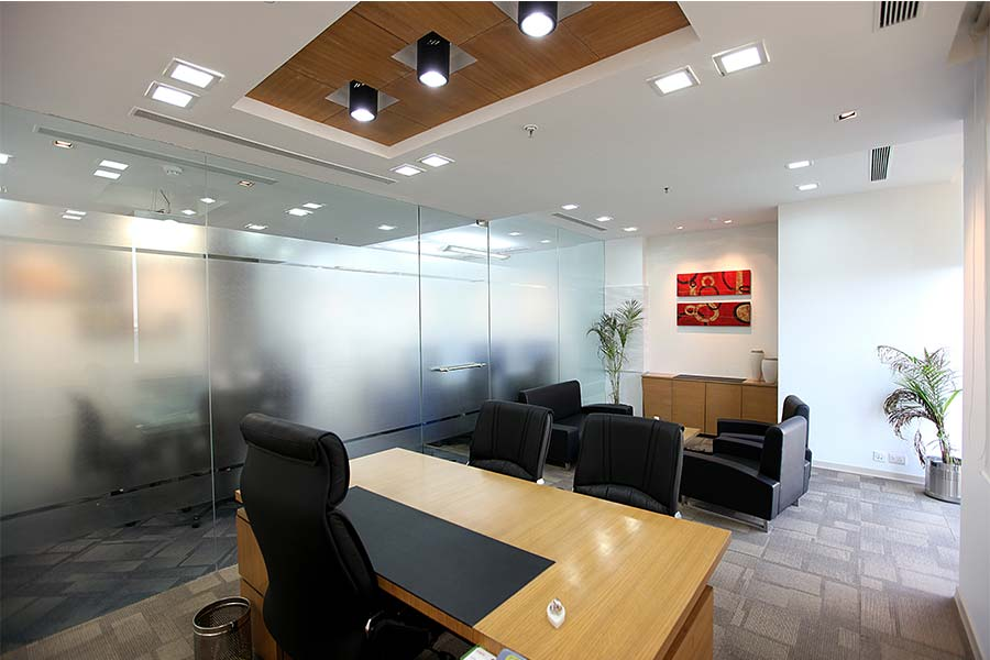 False ceiling design for office cabin for Office cabin design